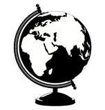 更改地球图标向量 背景查出的白色 图库摄影