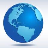 更改地球图标向量 免版税库存照片