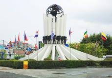 30更改的卫兵7月韩国国王好朋友s汉城南部 釜山 库存照片