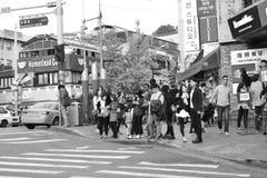 30更改的卫兵7月韩国国王好朋友s汉城南部 图库摄影