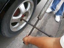 更改的轮胎 免版税图库摄影