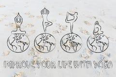 改进您的与瑜伽的生活 库存照片