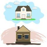 改造房子,修理老梦想  库存照片