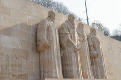 改革墙壁在日内瓦 库存照片