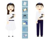 改革犹太女孩和男孩 免版税库存照片