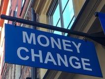 更改货币 库存图片