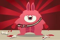 攻击巨人兔子 免版税库存照片