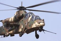 攻击用直升机rooivalk 库存照片