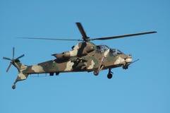 攻击用直升机rooivalk 免版税库存照片