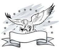 攻击的老鹰权威 库存图片