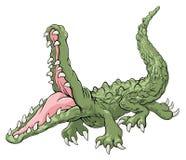 攻击的鳄鱼 免版税图库摄影