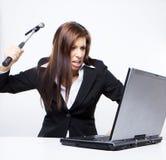 攻击计算机黑客 库存图片