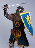 攻击骑士中世纪位置 库存图片