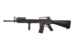 攻击m16a4步枪ris 免版税库存照片