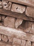放光木头 免版税库存照片