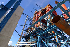 放光行业建筑用起重机工厂 库存图片