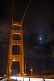 放出在金门大桥的汽车,旧金山,加利福尼亚 库存照片