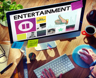 放出概念的传媒播放装置音频娱乐 免版税图库摄影