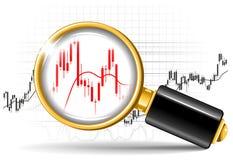 放大器和股票图表 免版税库存图片