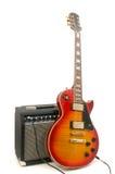 放大器电吉他 图库摄影