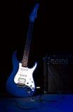 放大器组合电吉他 免版税库存照片