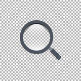 放大镜,传染媒介例证, EPS 10, isoiated背景 免版税库存照片