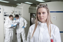 放射性实验室 免版税库存图片