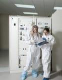 放射性实验室 库存照片