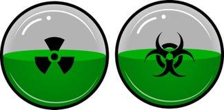 放射性的材料 免版税库存照片