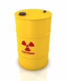 放射性的桶 库存照片