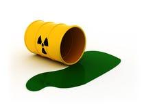 放射性的桶 免版税库存照片