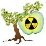 放射性苹果树 免版税库存照片