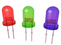 轻放射的diods (LED) 免版税库存图片