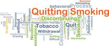 放弃抽烟的背景概念 向量例证