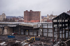 放弃断绝团结的工厂- Youngstown,俄亥俄 免版税图库摄影