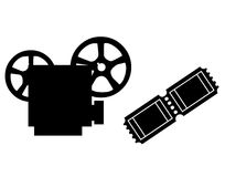 放映机和影片 库存照片
