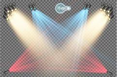 放映机是重新分配灯光在角度并且提供有角集中的一个轻的设备 皇族释放例证