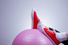 放松与健身球 免版税库存图片