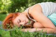 放松与瑜伽 免版税库存照片