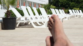 放松和Sunbath时间 股票视频