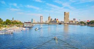 放松在河,开罗,埃及 图库摄影