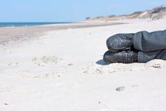 放松在海滩 库存照片
