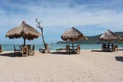 放松在热带海岛上 图库摄影