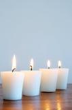 放松场面温泉的蜡烛 库存图片