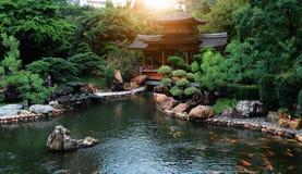放松庭院,南连家庭院,池氏林女修道院,香港 库存照片