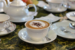 放松时间用咖啡 免版税库存图片