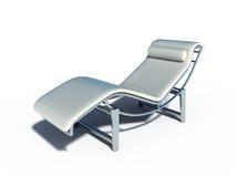 放松椅子白革 图库摄影