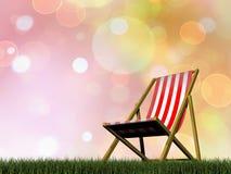 放松椅子- 3D回报 免版税库存图片