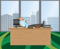 放松的办公室 库存例证