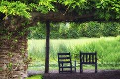 放松的平静的庭院 库存照片